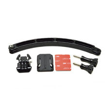 Motor Helmet Extension Arm Kit with Curved Adhesive Mount For GoPro Hero 6