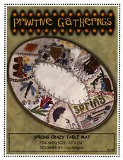 Primitive Gathering SPRING CRAZY wool TABLE MAT by Lisa Bongean
