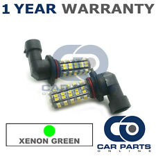 2X GREEN H10 60 SMD LED FOG LIGHT BULBS FOR JEEP COMMANDER COMPASS WRANGLER
