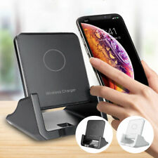 Qi Wireless Fast Charger Charging Pad Dock for iPhone Samsung Android Cell Phone