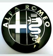 2x ALFA ROMEO Giulietta Mito Black emblem Badge 159 156 147   front rear  74 mm