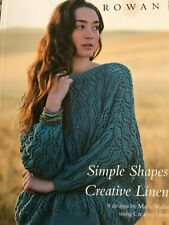 Rowan Simple Shapes Creative Linen 8 Knitting Designs for Ladies Brand New