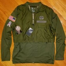 NIKE Cincinnati BENGALS Salute To Service Bomber Jacket mens L army camo hunting