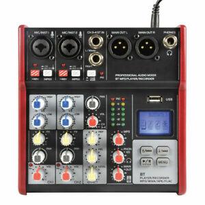 Citronic CSM-4 Live Stream Mixer 4Ch Bluetooth USB Digital FX Mixing Desk Studio