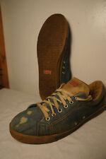 Vintage Levi's For Feet Sz 10 Blue Denim Jean Vtg Retro Tennis Gym Sneakers 501