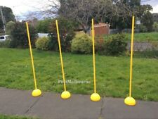 4+4/SET Multi-function 4 Agility Slalom Training Poles w/ 4 Round Bases