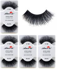6 Pairs AmorUs 100% Human Hair False Long Eyelashes # 199 compare Red Cherry