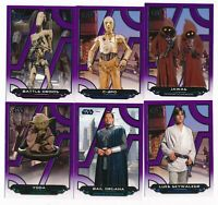 2017 Topps Star Wars Galactic Files Reborn Purple Parallel Lot /99-18 cards YODA