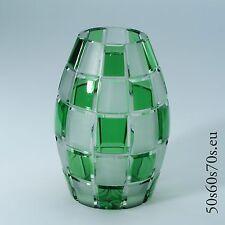 Glas Vase Schott Zwiesel Schachbrettmuster H= cm 50s Design #412