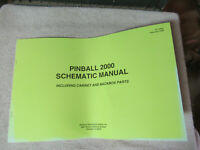 PINBALL 2000  SCHEMATIC  16-10882  WILLIAMS ORIGINAL PINBALL OWNERS  MANUAL