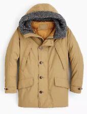 $598 Wallace Barnes Khaki Cordura Parka Jacket Nordic Primaloft NWOT J Crew S