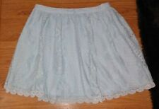 FREE PEOPLE GORGEOUS SEXY BLUE FLORAL LACE CROCHET HIPPIE MINI SKIRT EUC SZ 2 XS