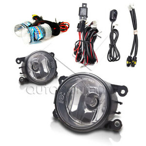 Fit 2014 Ram ProMaster Fog Lights w/Wiring Kit & HID Kit - Clear