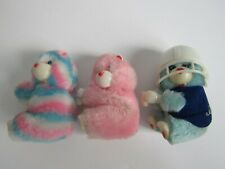 Lot of 3 Vintage 80's Care Bears Plush Clip On Hand Grabber Pencil