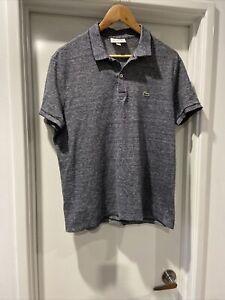 Lacoste Polo Shirt Grey L Lacoste Size 5