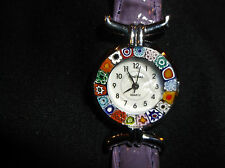 LADIES VENEZIA WATCH,MURANO,FIORI,LEATHER BAND,LOVELY