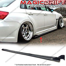 For 08-14 Subaru Impreza WRX STI CS Style JDM Side Skirts Rockers Extensions PU