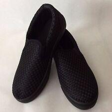Black Woven Jason Slip-On Sneaker Size 6