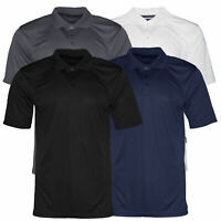 Mens Polo Button Shirt Short Sleeve Dry-Fit Sports Tennis Comfortable Fit