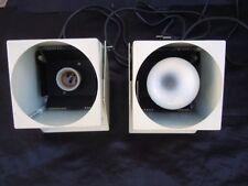 Paire lampes appliques cube métal laqué design 1970 luminaire Lita spot vintage