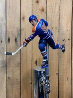 Edmonton Oilers Hockey Tap Handle WAYNE GRETZKY NHL Beer Keg Blue Jersey