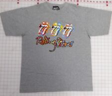 Rolling Stones Grey T-Shirt XL 3 Multi-colored Tongues