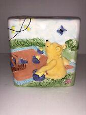 Disney Springs Ceramic Winnie The Pooh 3D Tissue Box