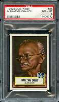 1952 TOPPS LOOK AND SEE #65 MAHATMA GHANDI PSA 8  *DS9072