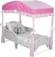 Imported Girls Canopy for Toddler Bed 100% Polyester Aluminum Plastic Toddler