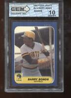 Barry Bonds RC 1986 Fleer Update #U-14 Rookie GEM MINT 10