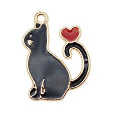5//10PCS Esmalte Perro Gato Pingüino Encantos Colgantes Fornituras hágalo usted mismo Artesanía Hacer
