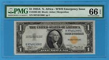 Fr. 2306 1935A $1 North Africa Emergency Note. PMG Gem Uncirculated 66 EPQ