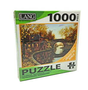 NWT Lang House by the River 1000 Piece Puzzle Art by Evgeny Lushpin
