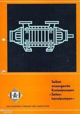 VEB Apollowerk Gößnitz Prospekt Kreiselpumpen Seitenkanalpumpen DDR 1979 Pumpen