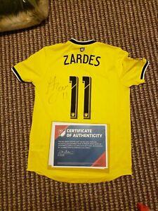 Gyasi Zardes Columbus Crew game used MU Signed vs Whitecaps 9/21/19 Goal scored