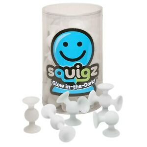 Fat Brain Toys Squigz Glow in the Dark Suction Toy - 24 Piece Set Building Set