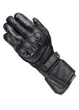 Gants noirs en cuir para-aramide pour motocyclette