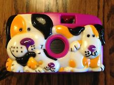 35mm Kid Com Children's Camera, C103 Dog and Puppies, Pink Shell