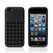Apple iPhone 5C Silicone Soft Rubber Polka Dots TPU Case Cover + Free Stylus