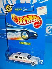 Hot Wheels 1991 Speed Points Card #112 Limozeen White w/ WWBWs