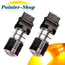 2 x Amber 3157 3156 High Power 7W 12 Chips LED Turn Signal Light Bulbs 3457 4157