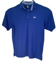 Footjoy FJ Spring Golf Performance Blue Mens Polo Shirt Short Sleeve Size Medium
