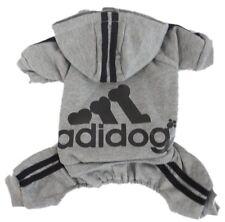 XXL Adidog Pet Clothes Gray Black Dog Hoodie Coat Sweatshirt Sweater Jumpsuit