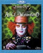ALICE IN WONDERLAND (Blu-ray + DVD) (NEW!) Johnny Depp, Helena Bonham Carter