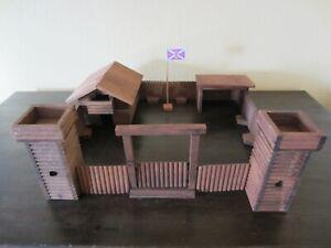 """ELASTOLIN FORT """"HAYS"""" Western Fort Cowboy Haus Indianer Holz"""