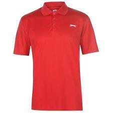 Slazenger Hombres Golf Solid Polo Shirt Mens Manga Corta