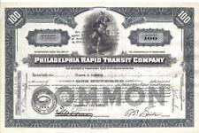 New listing Philadelphia Rapid Transit Company .1938 Common Stock Certificate