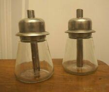 2x IKEA Rétro sucre portion Shaker pots verre en acier inoxydable Café Café Thé