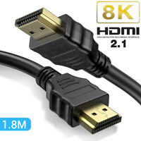 HDMI Cable 8K HDMI 2.1 Type A Male to Type A Male Cord 4K@120HZ 8K@60HZ 5ft 6ft