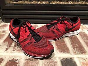 Nike Flyknit Trainer AH8396-601 University Red Black White Mens Running Shoes 8